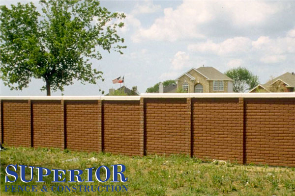 Coco brick pre-cast concrete fence - Superior Fence