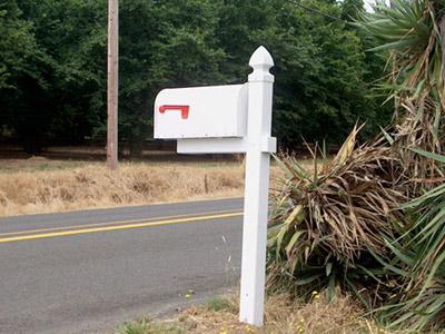 Vinyl mailbox - Superior Fence