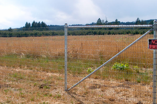 Non-climb brace-top and diagonal farm fence