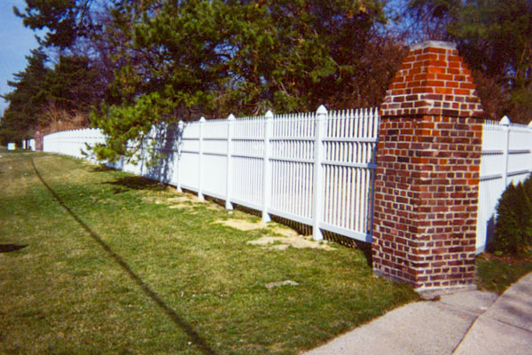 Ornamental vinyl fence with Gothic cap - Superior Fence