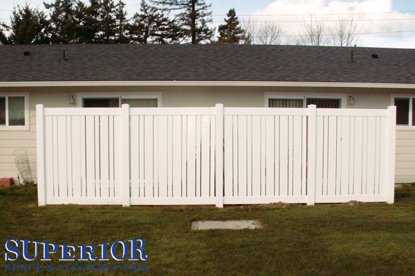 white vinyl fence - Superior Fence