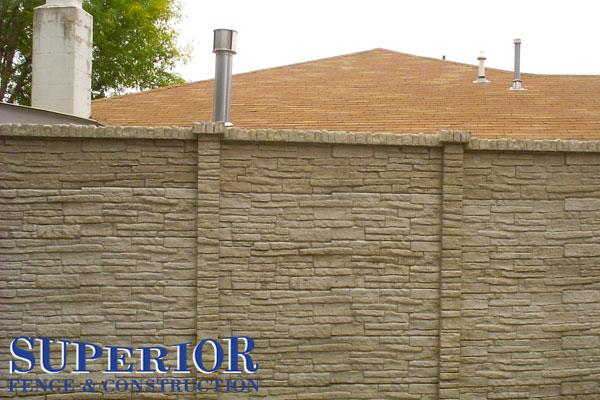 stone pre-cast concrete fence - Superior Fence