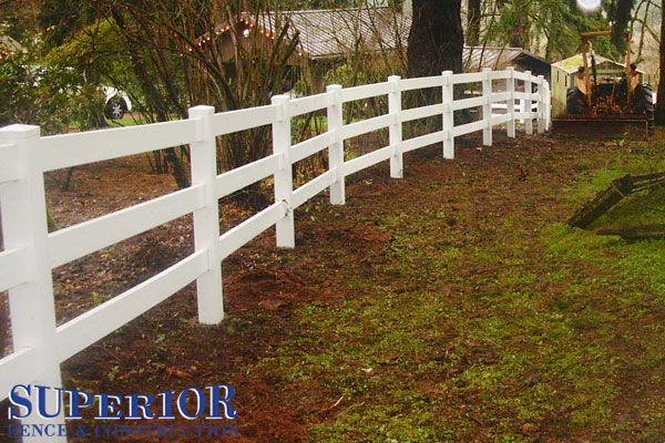 white wooden farm fencing - Superior Fence