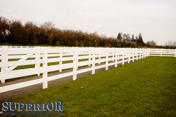 Wooden farm fencing - Superior Fence