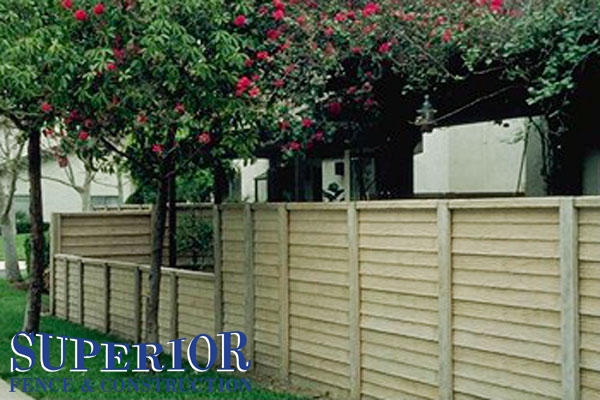Wood pre-cast concrete fence - Superior Fence