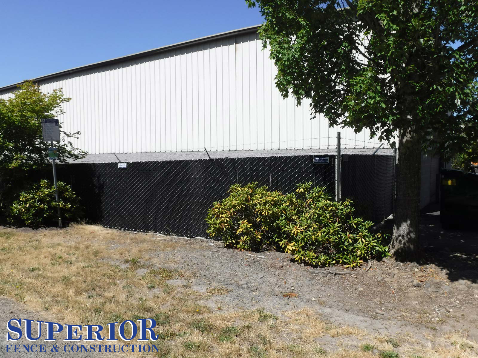 Superior Fence & Construction - commercial black chain link fence